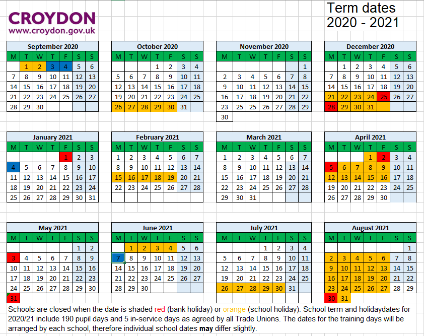 School term dates